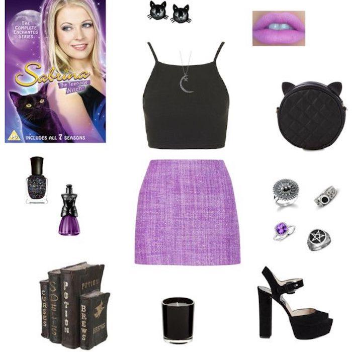 Sabrina tenue ado, cool idée simple à réaliser pour se déguiser à la mode des années 90, vetement année 90, déguisement soirée année 90 rétro