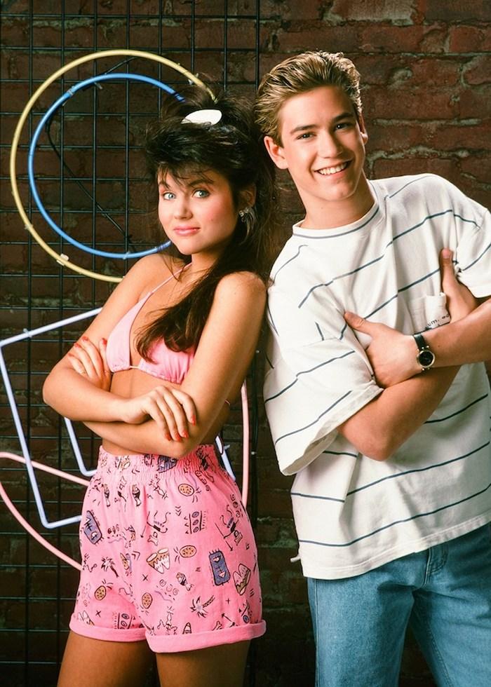 Saved by the bell tenue année 90, tele serie deguisement couple, originale idée déguisement couple