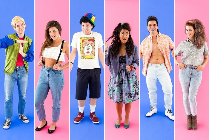 Saved by the bell groupe deguisement serie tv, look année 90, cool tenue à adopter