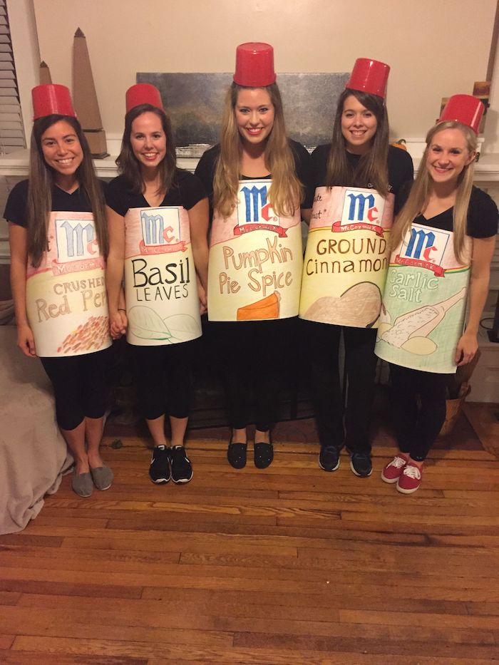Les Spices girls littéralement idée déguisement halloween filles comme épices, chouette idée déguisement original