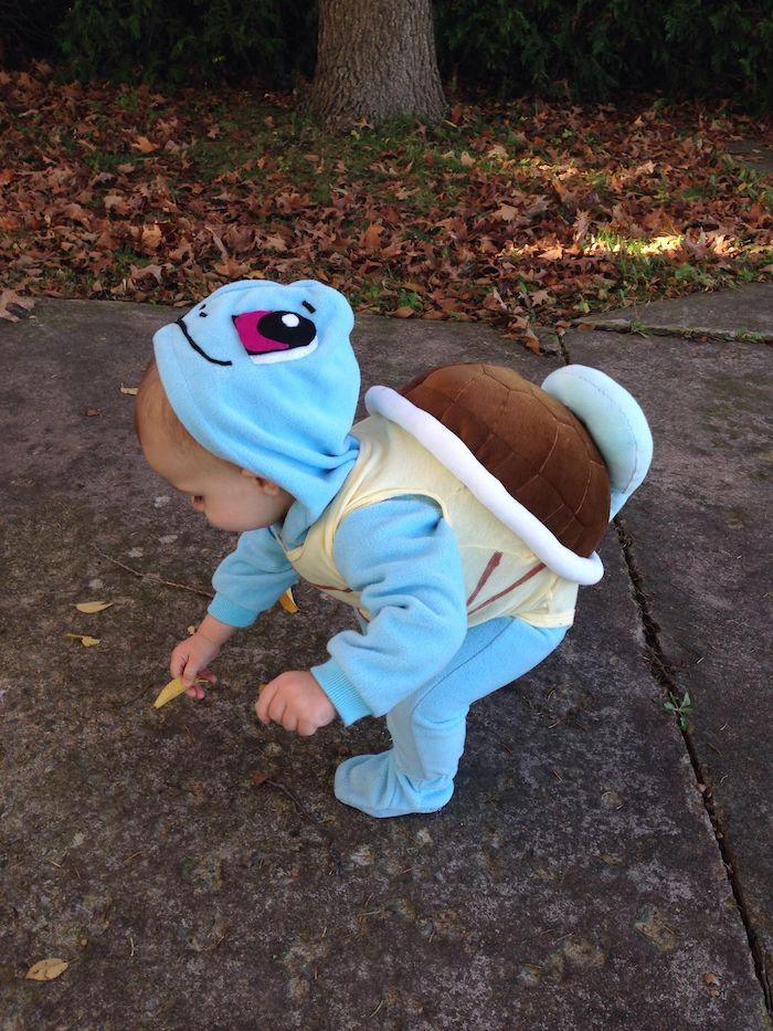 Pokemon idée comment deguiser son enfant, moderne déguisement pikachu, bébé en costume bleu