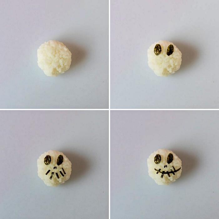faire des sushis d'halloween façon personnages d'halloween, recettes originales pour un apero dinatoire halloween