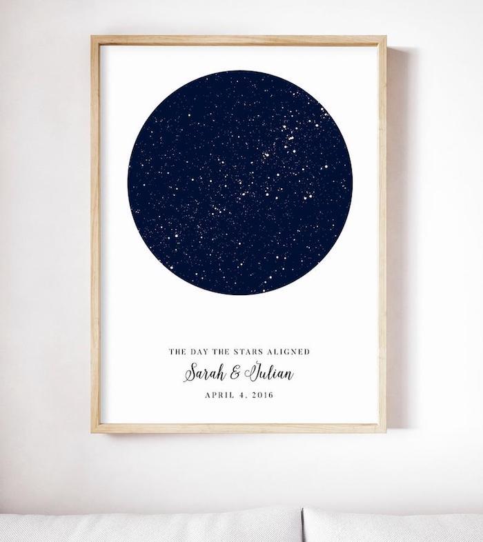 Peinture galaxie spéciale pour le couple, original cadeau 1 an couple, idée de cadeau pour couple