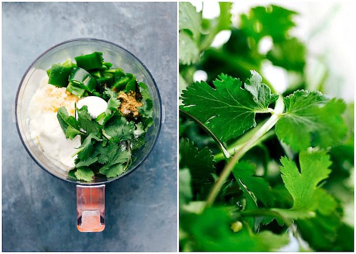recette de sauce pour tacos mexicains à la mayonnaise, ail poivron vert et persil, comment faire des tacos mexicains