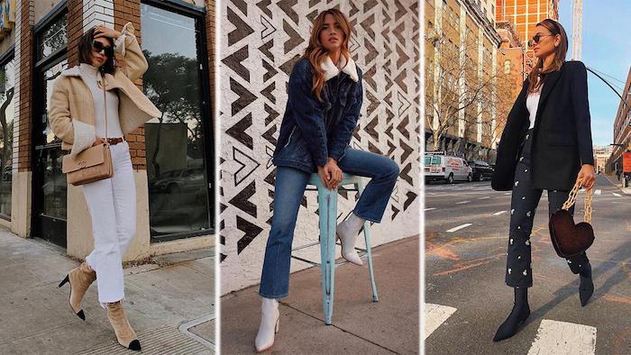 Trois options comment porter un jean 3/4 taille haute, pantalon chino femme, adopter le pantalon taille haute femme