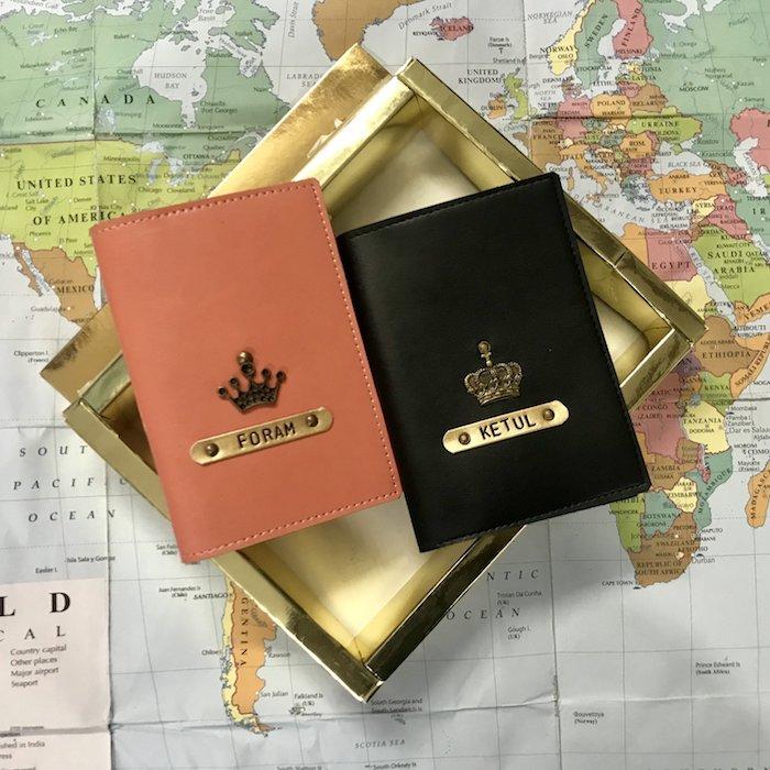 Passeport couverture pour elle et lui, idée de cadeau pour couple, simple idée pour cadeau