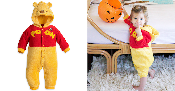 Pooh l'ourson deguisement bebe fille, impressionner ses voisins, costume en commun
