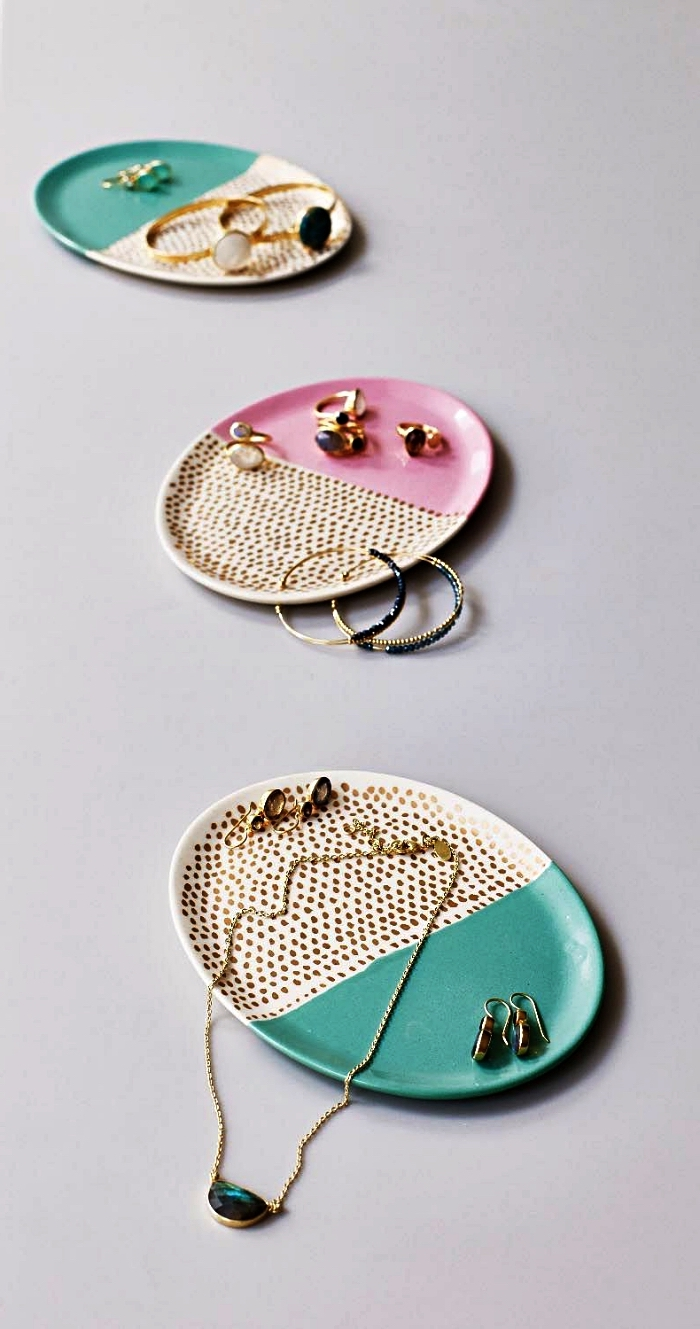 assiettes porte-bijoux