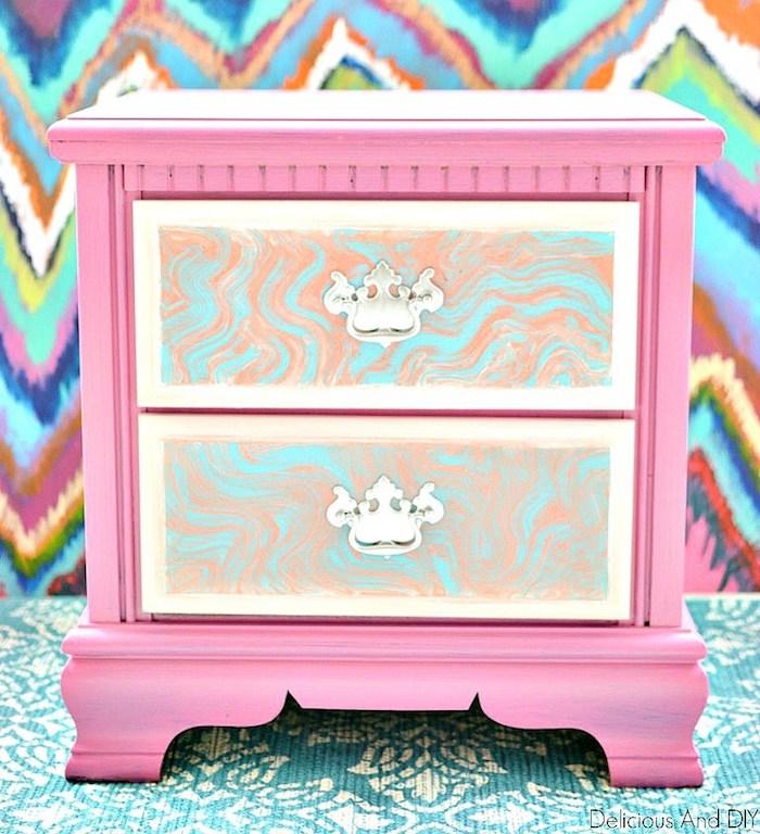 Rose peinture et placards en marbre customiser un meuble, relooker un meuble, donner une nouvelle vie