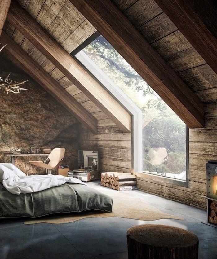 Magnifique idée comment décorer un chalet avec belle vue, deco rustique, decoration bois magnifique atmosphère