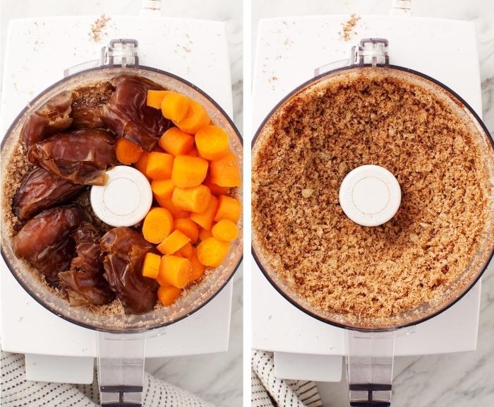 faire des truffes vegan, bonbon vegan a faire soi meme avec carottes, dattes, cannelle, noix de coco