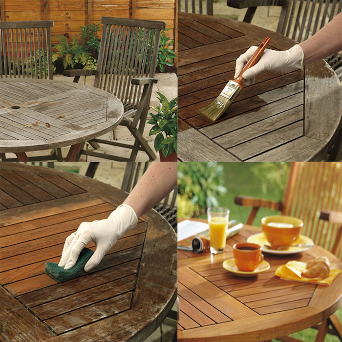 Table laqué, comment la peindre, table de jardin quelle peinture pour repeindre un meuble en bois, meuble peint