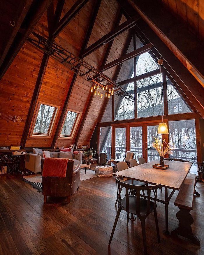Appartement sous les combles, magnifique vue deco cocooning, chambre chalet, deco rustique dans la montagne