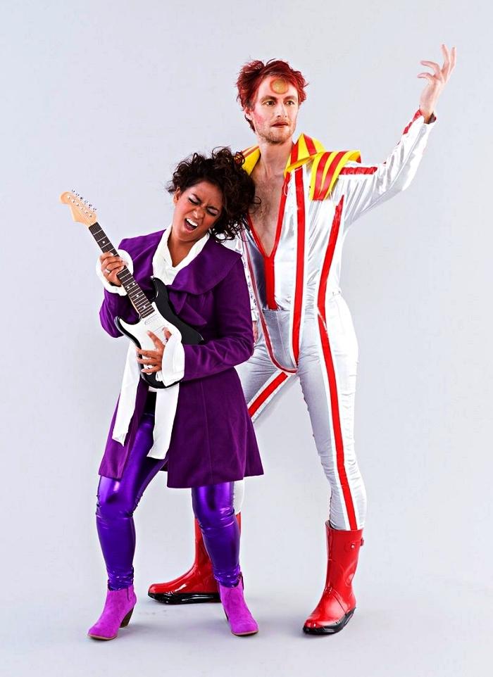 déguisement de chanteur star des années 80, idée de costumes des années 80 pour se déguiser prince et en david bowie