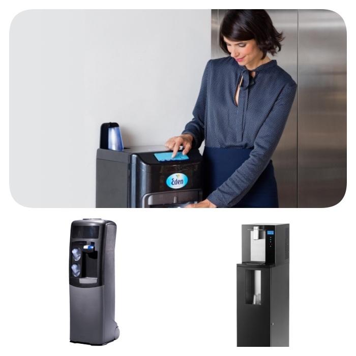 distributeur sur reseau pour entreprise, idee fontaine à eau écologique et durable