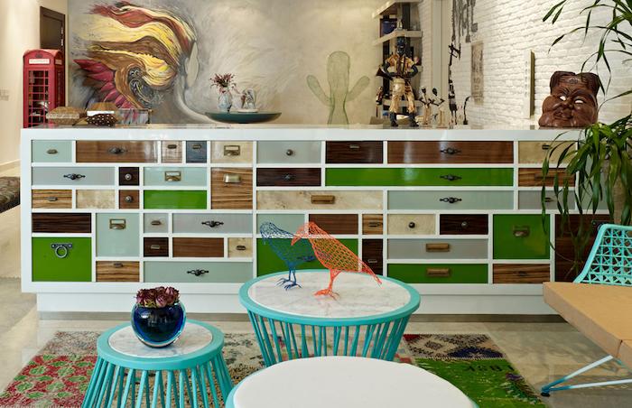 Coloré cabinet grande, rangement peinture renovation meuble, relooker meuble ancien en moderne