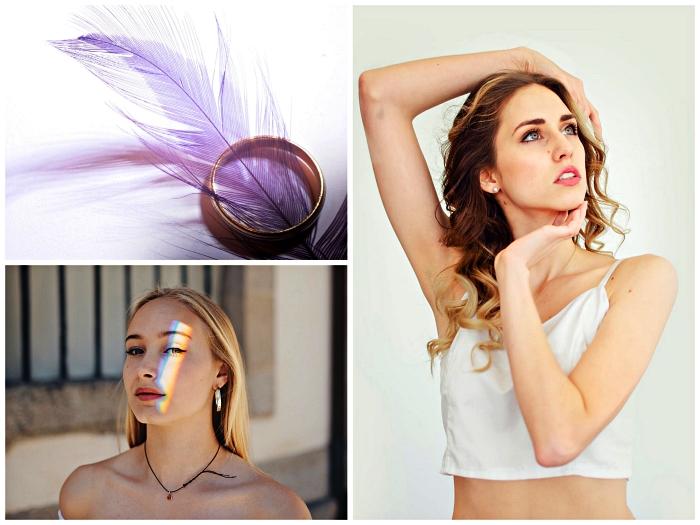 produits du maquillage doux et hypoallergéniques pour peaux sensibles, femme de tein unifié et sain