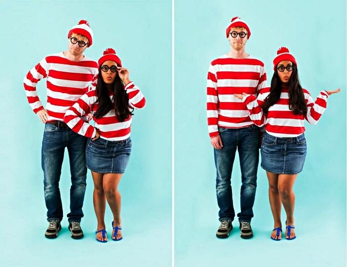 idée déguisement de couple de dernière minute, déguisement où est charlie pour femme et homme