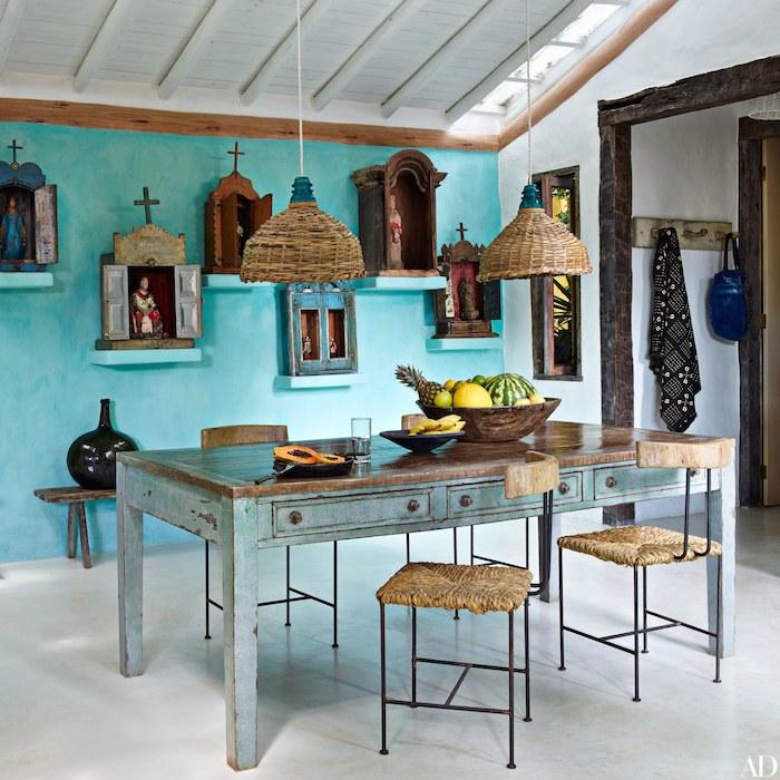 Cool idée table à manger relookée, quelle peinture pour repeindre un meuble en bois, relooking meuble
