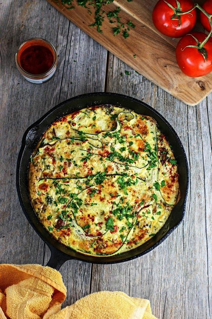 comment préparer une quiche lorraine sans pate, recette de quiche healthy aux légumes et fromage