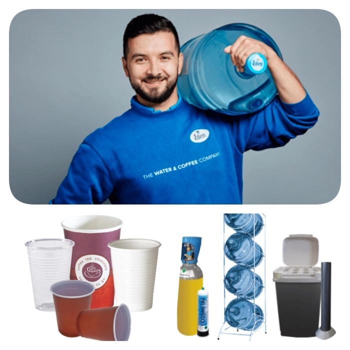 quels équipements et service supplémentaires, gobelets, rack à bonbonnes, poubelles et autres