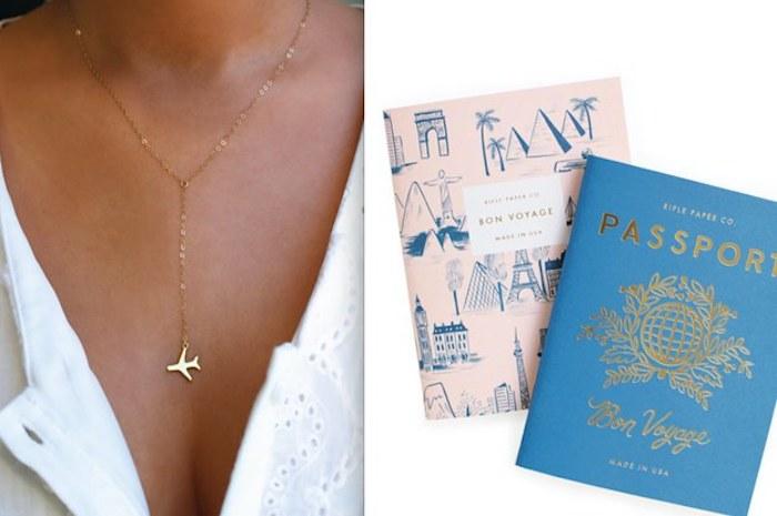 Avion pendant bijou doré, cahiers bon voyage, cadeau diy, idée cadeau meilleure amie,idée cadeau fait main,