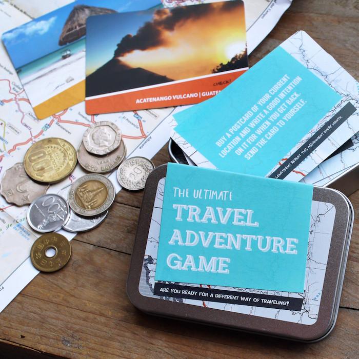 Jeu cadeau pour voyageur, cadeau de voyage original pour femme qui aime les jeux de bord