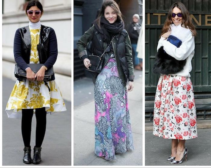 robe longue blanche, s'habiller bien en hiver tendance, trois idées comment s'habiller en hiver en vêtements d'été