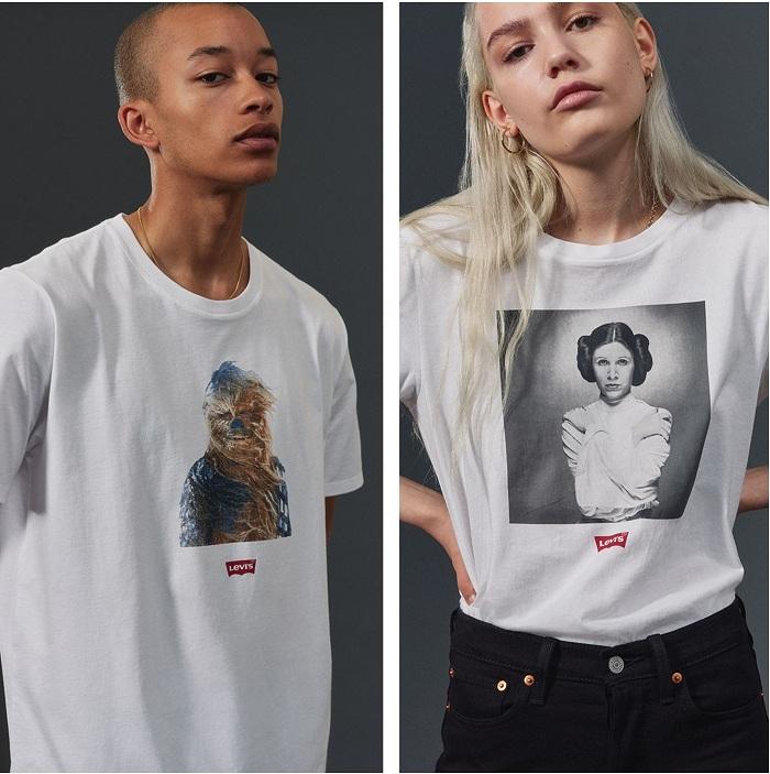 La collection Levis Star Wars se compose de vestes en jean, sweats à capuche, tee-shirts, pantalons et accessoires