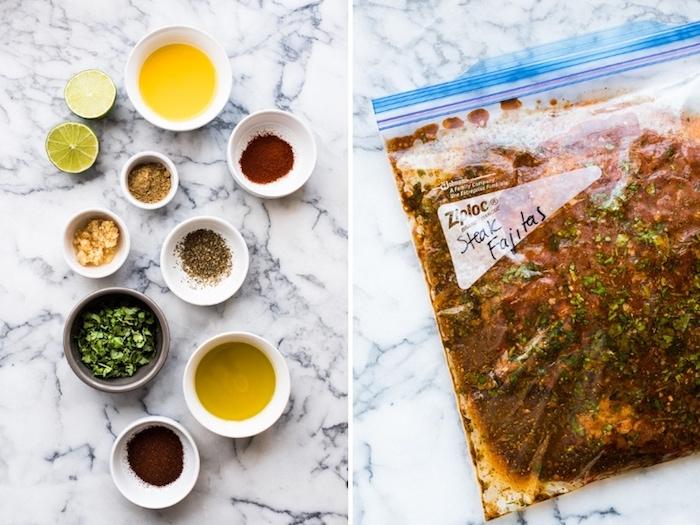 marinade pour viande, repa du soir équilibré aux herbes variés, comment faire tacos maison, idee repas soir léger