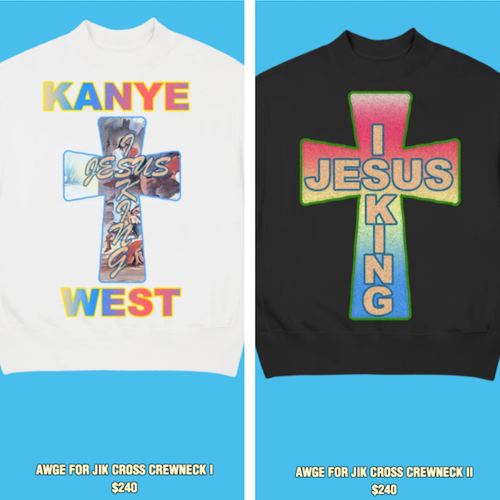 AWGE signe une nouvelle collection de merch pour l'album Jesus Is King de Kanye West