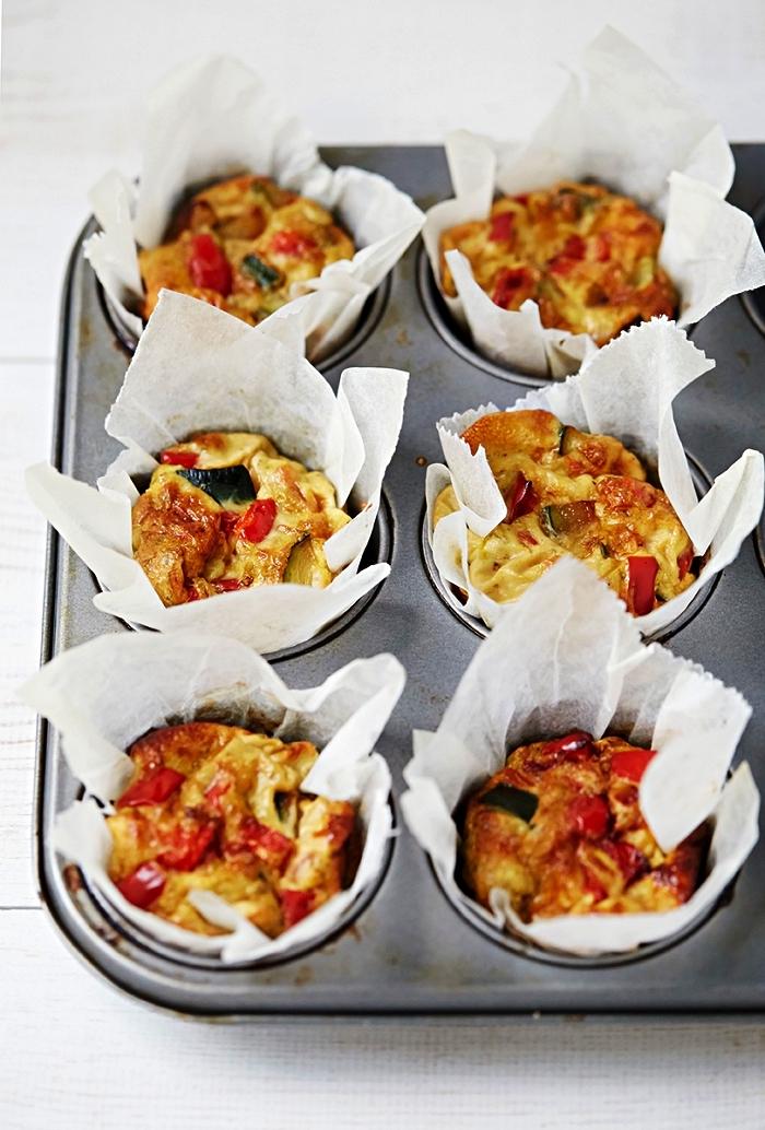 muffins salés aux oeufs et aux légumes façon mini-quiches sans pâte