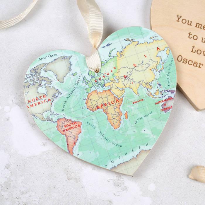 Coeur avec carte diy décoration chambre à coucher, idée cadeau utile, chouette idée cadeau anniversaire diy