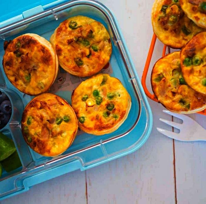 mini quiche au thon sans pate, mini-frittatas aux légumes et au thon pour un petit-déjeuner healthy et rassasiant