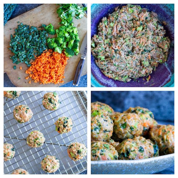 boules de viande hachée aux carottes, brocolis et chou frisé, quoi manger ce soir, idée plat en équilibre