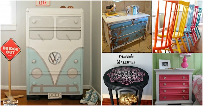 Chaises, cabinets et commodes transformés par la peinture pour meuble de chambre à coucher, comment repeindre un meuble sans le poncer