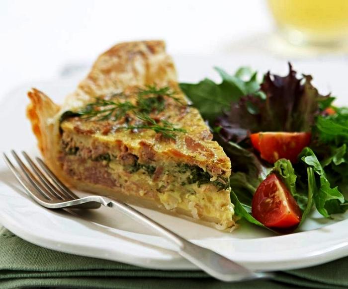 recette de quiche au thon et aux épinards sans pâte brisée, quiche en version allégée sans pâte brisée