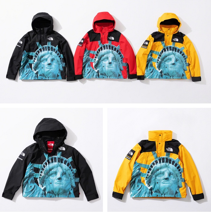 Supreme et North face collaborent pour une nouvelle collection capsule pour l'hiver 2019, incluant la veste Moutain Jacket