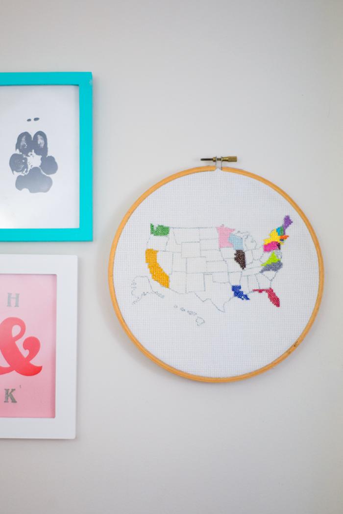 Cercle avec le plan du monde cadeau original pour sa meilleure amie qui aime voyager