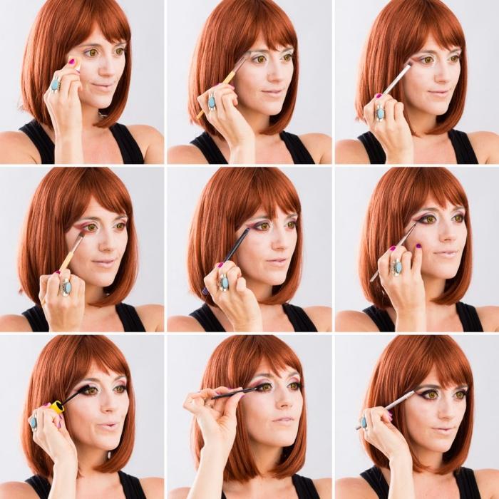 comment réaliser un maquillage halloween facile, étapes à suivre pour faire un makeup vampire pour femme halloween