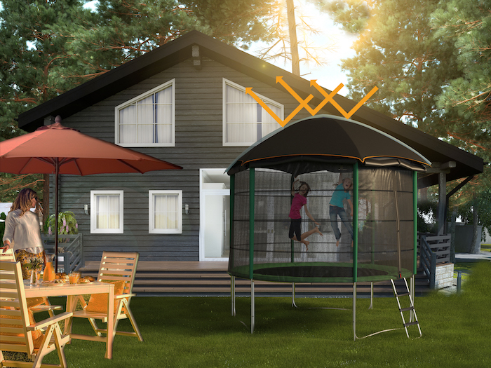 tente tigloo pour couvrir son trampoline et créer une cabane trampoline originale