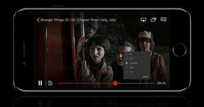Netflix teste auprès de certains abonnés sous Android une nouvelle fonction permettant d'accélérer ou ralentir le visionnage d'un programme
