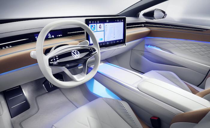 le break électrique ID Space Vizzion de Volkswagen a été présenté à Los Angeles