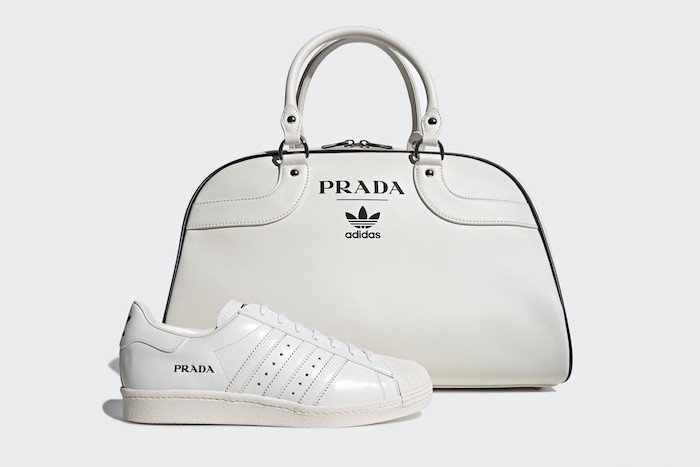 Prada revisite son Bowling bag et la Superstar d'Adidas pour la collection Adidas Prada