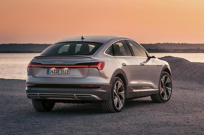 la marque allemande Audi a dévoilé le modèle coupé de son SUV élecrique, le E-Tron Sportback