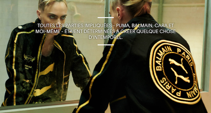▷ Balmain X Puma, la collection monte sur le ring avec Cara