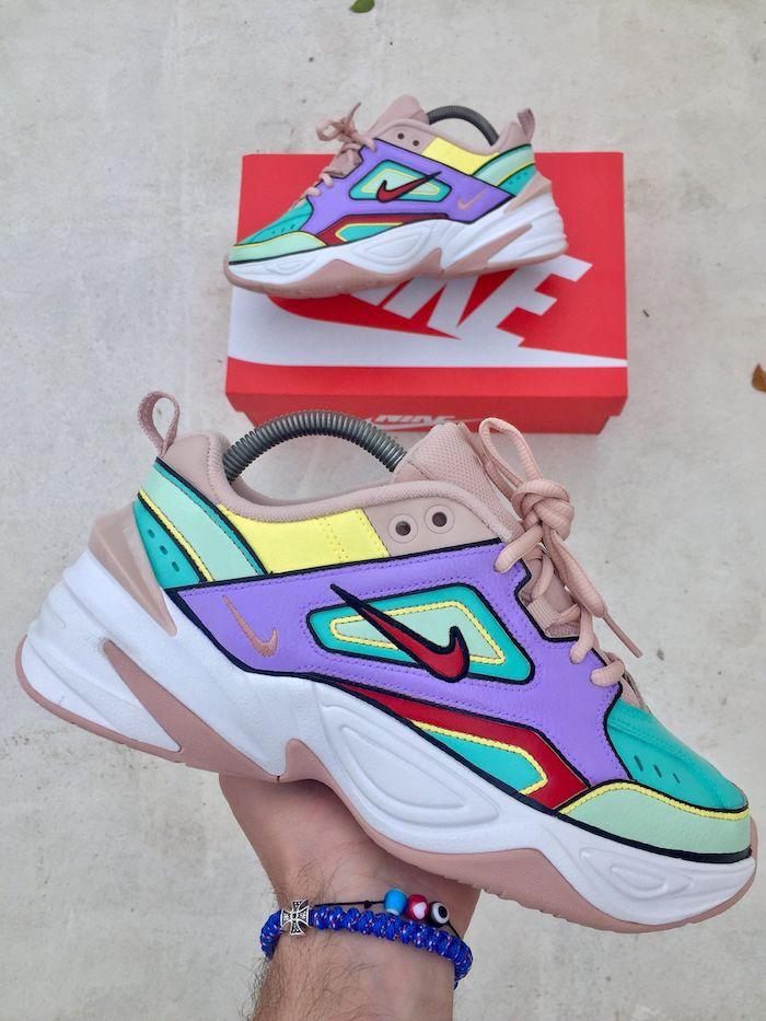 Nike air force one personnalisé, chaussure personnalisable coloré, activité manuelle pour les amoureux de DIY