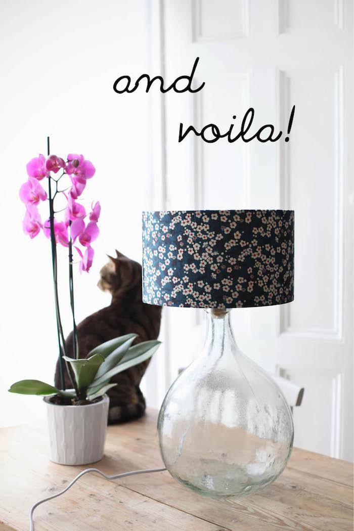 Faire une lampe de dame-jeanne déco, transformation vase dame jeanne, décoration bonbonne dame jeanne en lampe