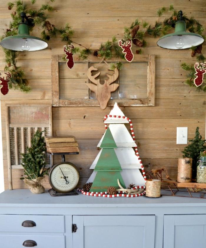 idée objets de déco pour Noël à réaliser soi-même à petit budget, deco de noel a faire soi meme avec recup