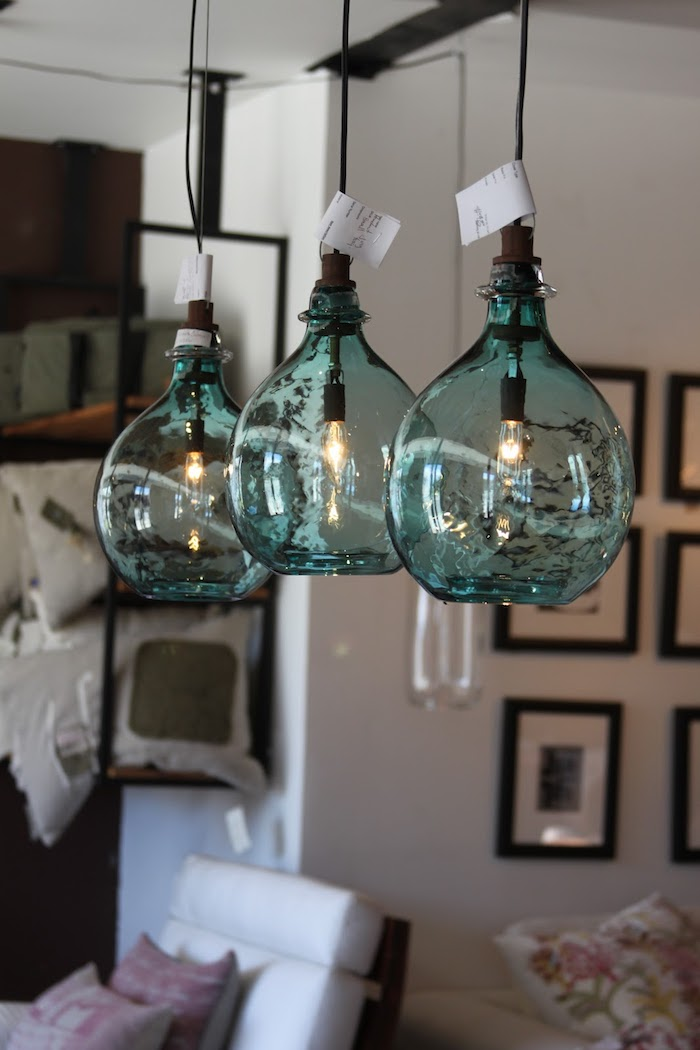 Lustre pour lampe led de vase dame jeanne, deco vases, cool idée comment décorer, idée cuisine stylé